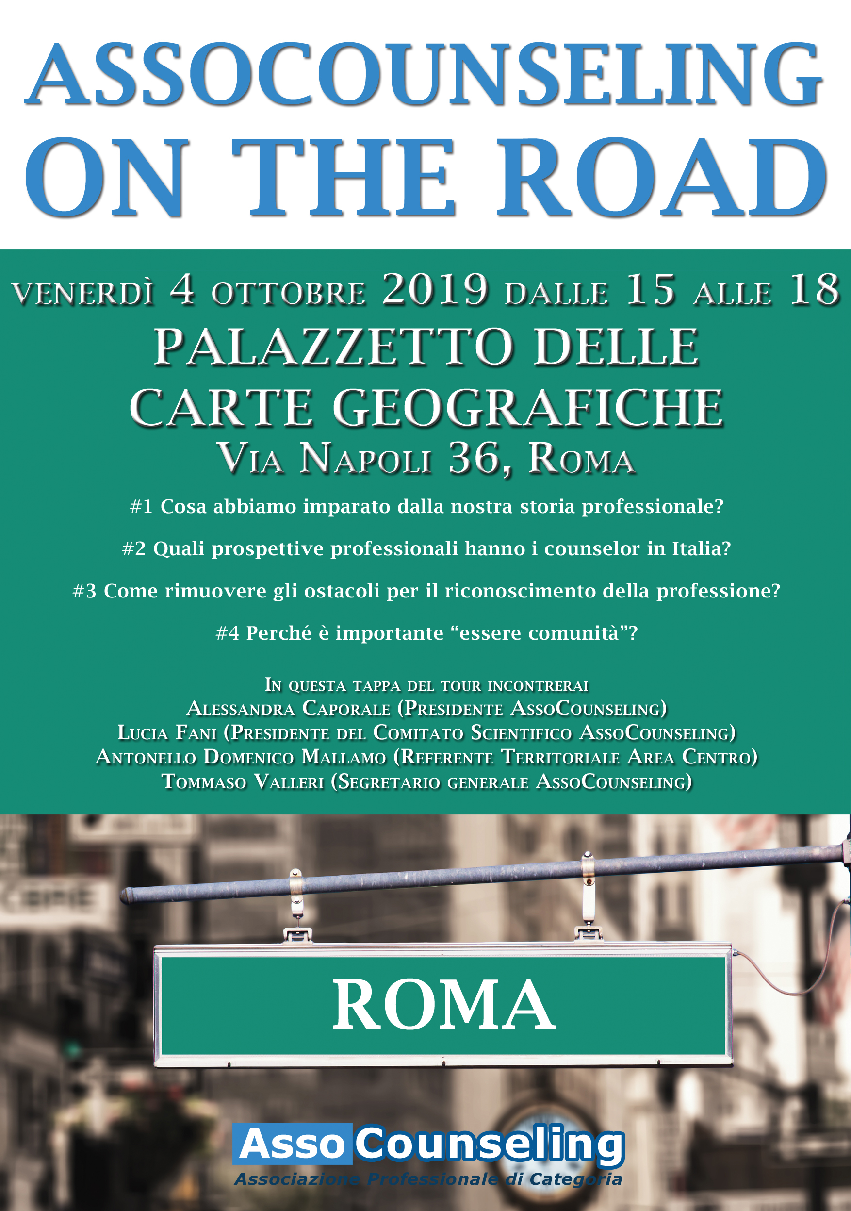 AssoCounseling on the road, Roma, 4 ottobre 2019