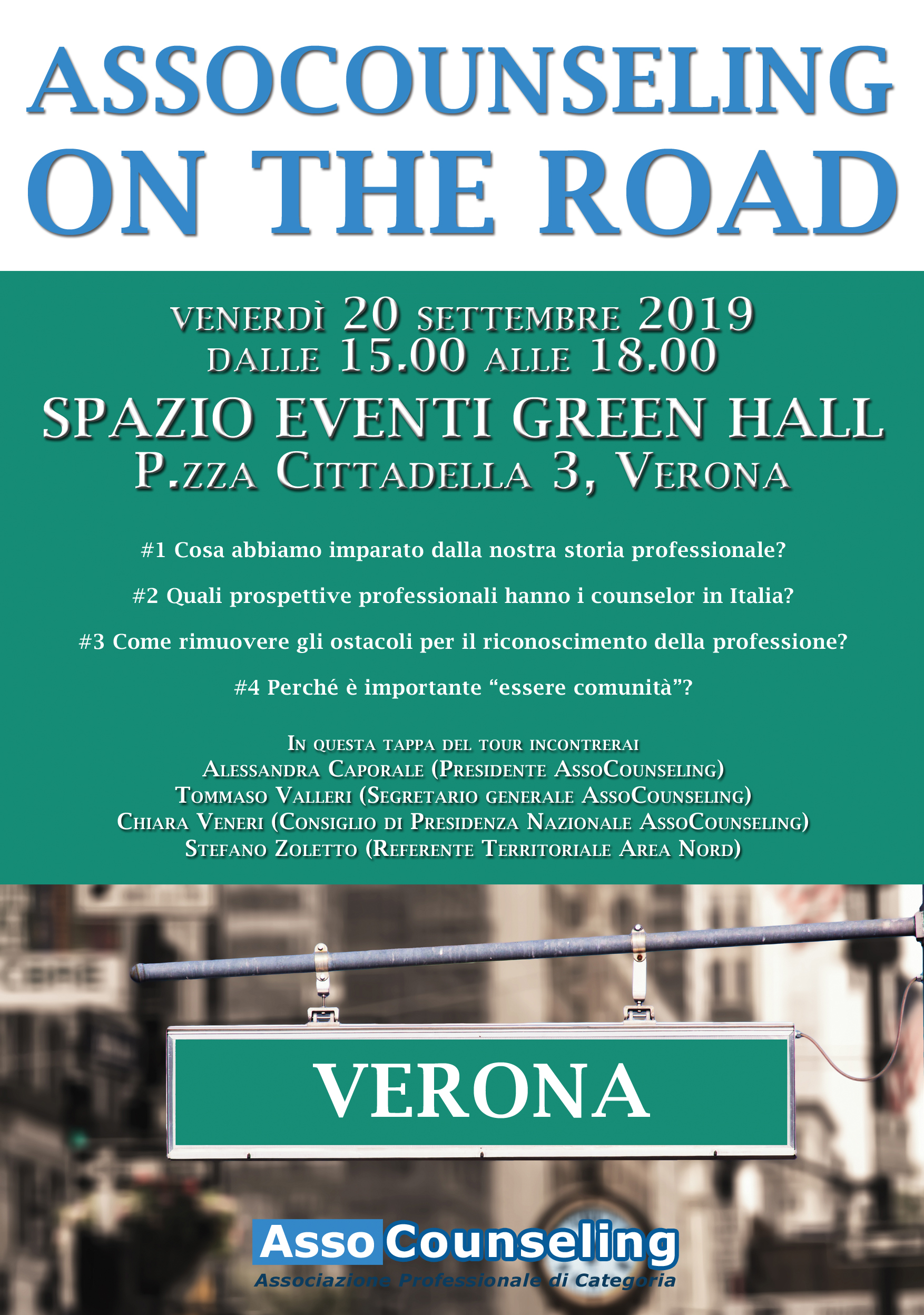 AssoCounseling on the road - Verona, 20 settembre 2019